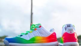 b166f5fbd079 Ray Allen s  Rainbow  Air Jordan 11 Golf Shoes Are Insane
