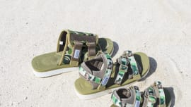 1c44d1beee1e Suicoke Gets Dipped in Camouflage for Their New A Bathing Ape Collaboration