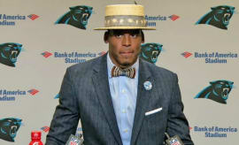 Cam Newton at Panthers post-game press conference