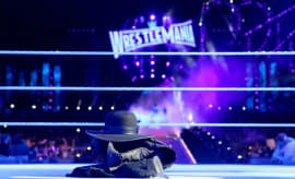 The Undertaker's gloves, hat, and jacket remain in the ring after WrestleMania 33.
