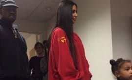 Kim Kardashian in Controversial Vetements Sweathsirt