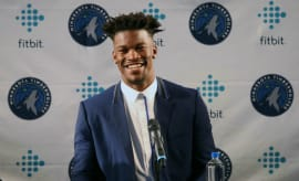 Jimmy Butler at his introductory press conference.