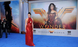Gal Gadot attends the World Premiere of Warner Bros. Pictures' 'Wonder Woman'
