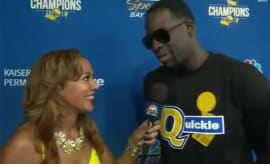 Draymond Green explains his Quickie shirt.