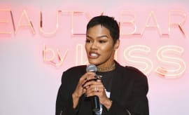 Teyana Taylor attends Beauty Bar By KISS