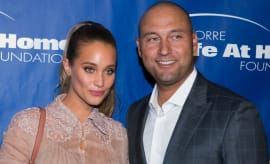 Derek Jeter and Hannah Davis.