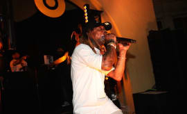 Lil' Wayne performs during LeBron James NBA All Star Party