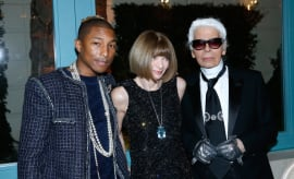 Pharrell, Anna, Karl in Paris