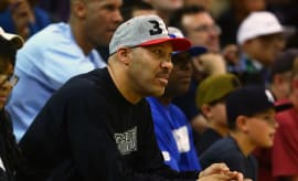 LaVar Ball watches his son play at UCLA.