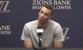 Dante Exum during Utah Jazz Exit Interviews