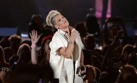 "Pink performs at the fifth annual ""We Can Survive"" benefit concert."