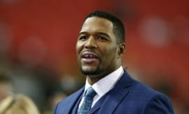 Michael Strahan at the 2017 NFC Championship Game.