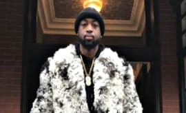 Dwyane Wade wears mink coat for New Years Eve 2016