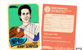 Jerry Seinfeld Baseball Card Oral History of Baseball Seinfeld II