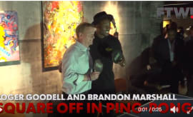 Goodell playing ping pong