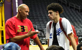 LaVar and Lonzo Ball.