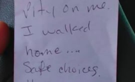 Man Leaves Note for Parking Patrol Officers