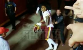Terrelle Pryor curses at Chiefs fans.