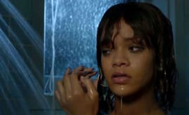 Rihanna takes a shower on Bates Motel.