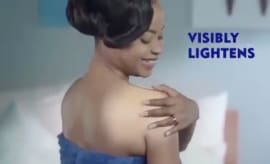 Nivea visibly lighten ad.