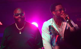 Rick Ross and Gucci Mane Peform at Gucci Mane Live at Cafe Iguana Pines