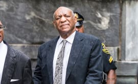 Bill Cosby is seen leaving Montgomery County Courthouse
