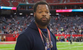 Michael Bennett at Super Bowl 51.