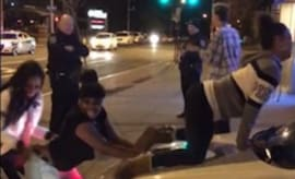 Some women twerking on a cop car in Rochester, NY.