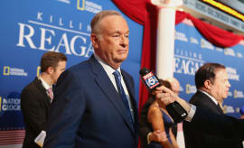 Bill O'Reilly (C) attends the 'Killing Reagan' Washington DC premiere