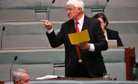 Mr Katter has used the boomerang to call for legislation protecting Indigenous artists