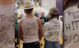 "Montana high school students wear ""White Power"" shirts to pep rally."