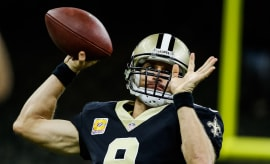 Drew Brees Saints Lions 2017