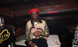 Chief Keef backstage at Brooklyn Bowl