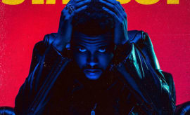 This is the cover for The Weeknd's 'Starboy' album.