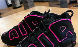 Nike Air More Uptempo GS Black Pink Blast Release Date 415082-003