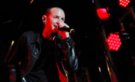 Chester Bennington performing with Linkin Park