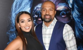 Derek Fisher and Gloria Govan on the red carpet.