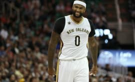DeMarcus Cousins during a game against the Jazz.