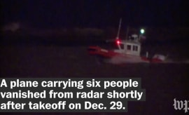A plane carrying 6 people vanishes from radar after takeoff.