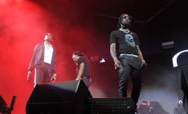 Quavo, Offset and Takeoff of Migos perform at Future In Concert