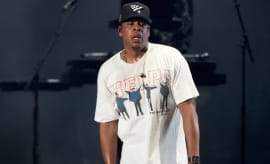 Jay Z performs.