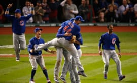 Cubs celebrate World Series win.