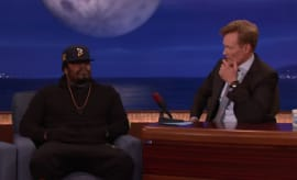 Marshawn Lynch is a guest on 'Conan'.