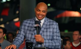 Charles Barkley appears on a pregame show for the NBA on TNT.