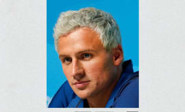 Ryan Lochte fake Blonde album cover.