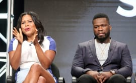 Courtney Kemp and 50 Cent Sitting Together