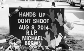 Michael Brown memorial.
