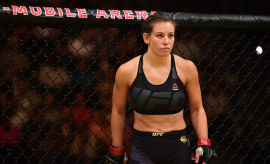 Miesha Tate in the Octagon during a UFC match