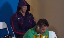 Michael Phelps meme face