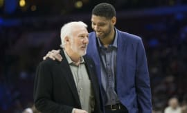 Gregg Popovich Was in Rare Form for Emotional Tim Duncan Retirement Speech